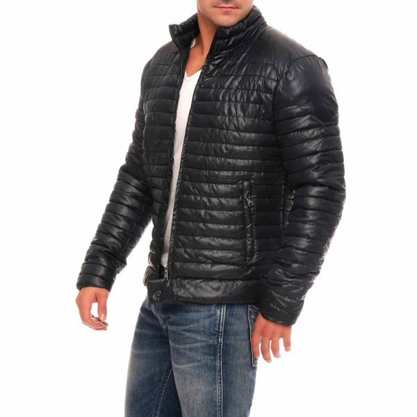Men Winter Casual Thick Padded Jacket Zipper Slim