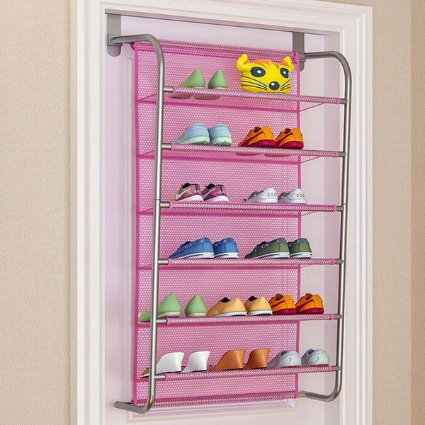 MultiLayer Wall-mounted Shoe Rack Hallway Space Saving Shoe Organizer Over the Door