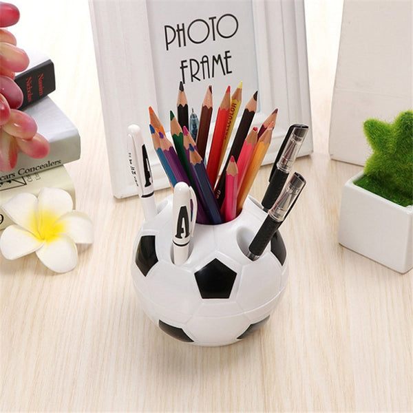 Football Pen Holder Kids Stationery Pencil Organizer Desk Set