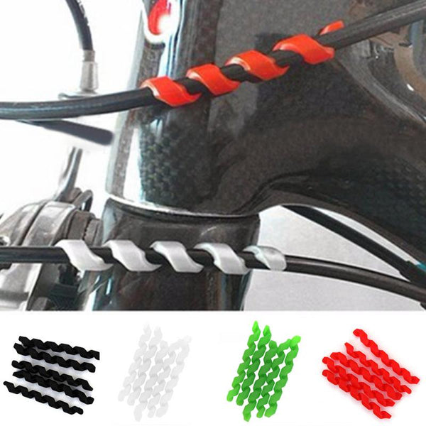5Pcs Bicycle Brake Cable Protectors Anti-friction Housing Rubber Protector Bicycle Frame Cycling Wrap Guard Tubes