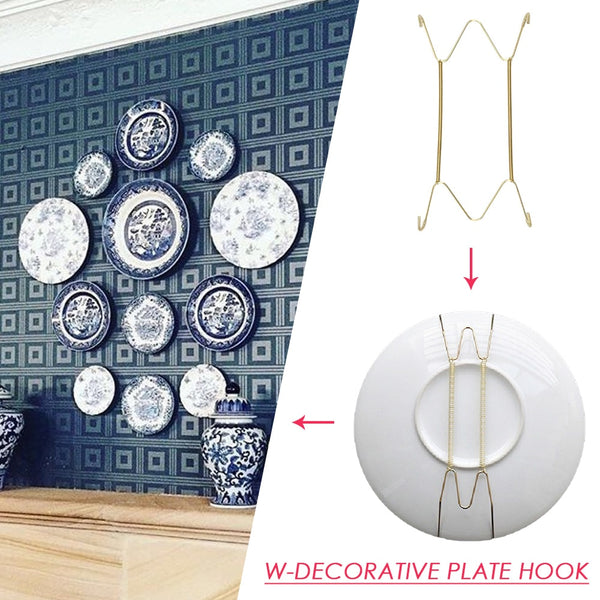 Wall Display Plates Dish Hangers Holder New Design W Type Dish Spring Holder