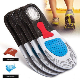 Men's Gel Orthotic Sport Running Insoles Insert Shoe Pad Arch Support Heel Cushion