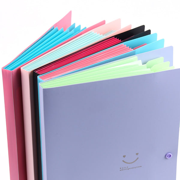 1PC New A4 Kawaii Document Bag Waterproof File Folder 5 Layers Document Bag