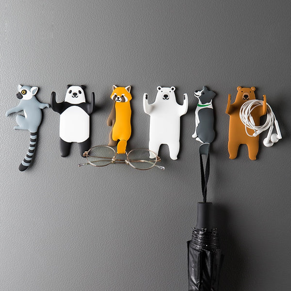 Lovely animal Fridge Hook Key Wall Crochet Holder Removable Kitchen Hooks