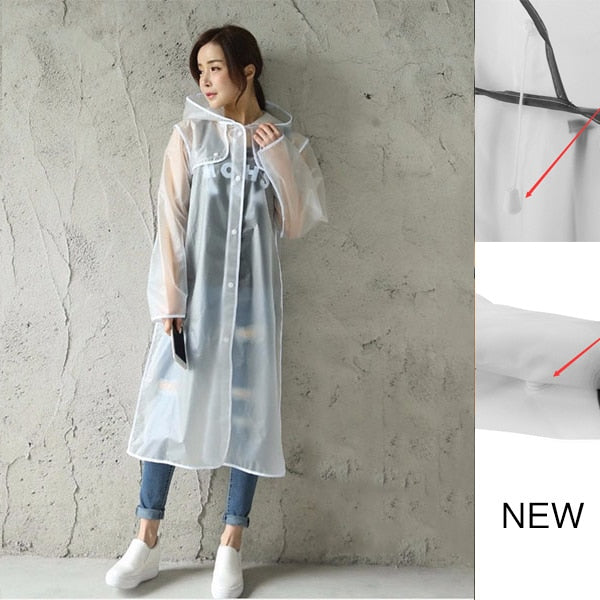 Geekinstyle New Fashion Women's Transparent Eva Plastic Girls Raincoat