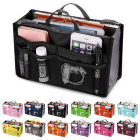 Organizer Insert Bag Women Nylon Travel Insert Organizer Handbag Purse