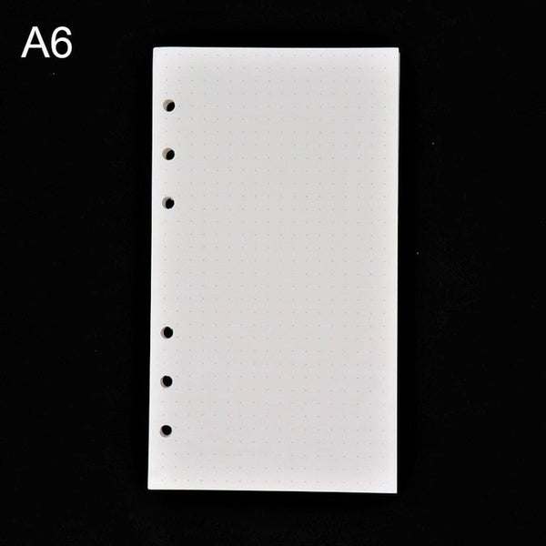 45PCS high quality binder notebook A5/A6 insert refill 6 hole loose leaf spiral