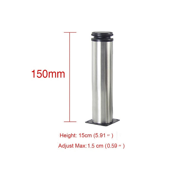 1Pcs 5CM-35CM Furniture Adjustable Cabinet Legs Stainless Steel Furniture Legs