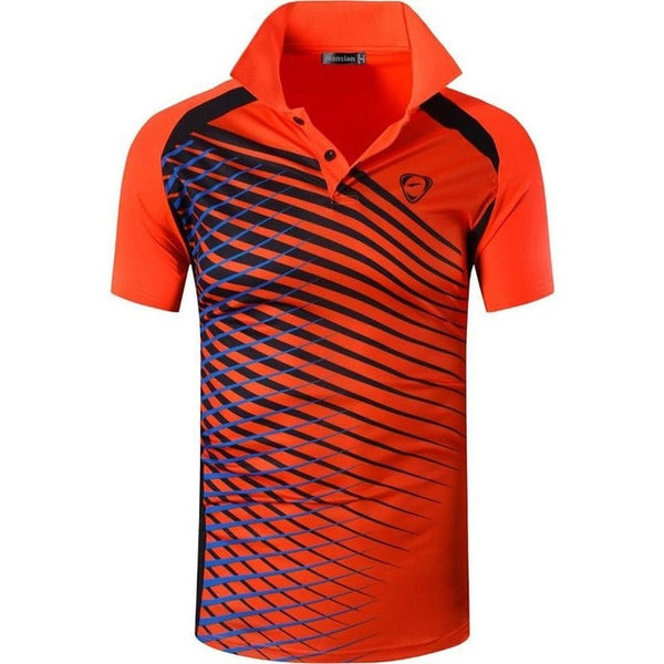 Men's Sport Polo Shirts Golf Tennis Badminton Dry Fit Short Sleeve