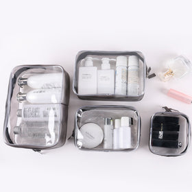 Transparent PVC Storage Bags Travel Organizer Clear Makeup Beautician Cosmetic Bag