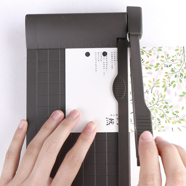 Portable A5 Paper Trimmer 1-6 Inch Photo Paper Guillotine Built-In Ruler Paper Cutter