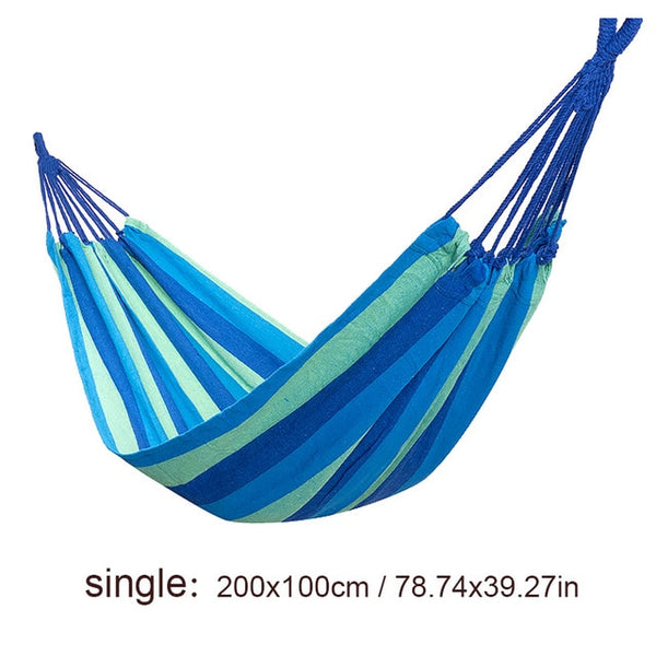 Single/Double 200x150cm Garden Swings Outdoor Camping Hammock
