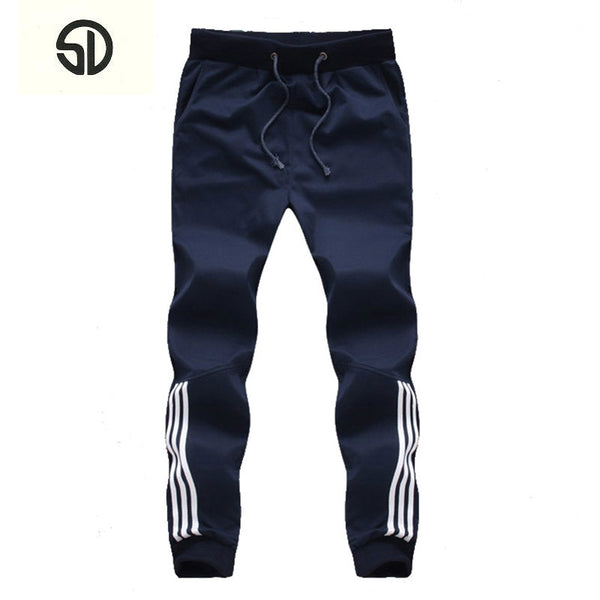 New Fashion Tracksuit Bottoms Mens Casual Pants Cotton Sweatpants Mens Joggers Striped Clothing Plus Size 5XL