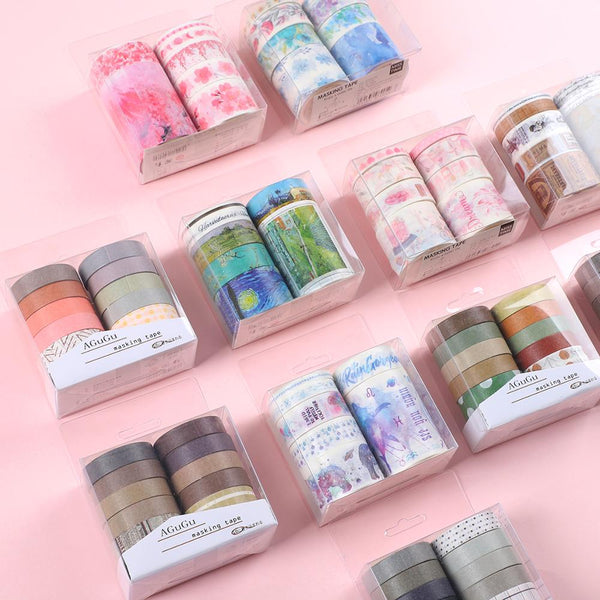 7pcs or 10pcs/set Cute Basic color Washi Tape Scrapbook DIY  Masking Tape