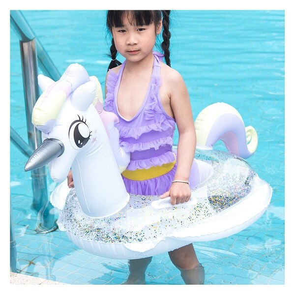 21 Style Inflatable Circle Baby Flamingo Float Swimming Ring Inflatable Unicorn Pool Float Child Seat Air Mattresse