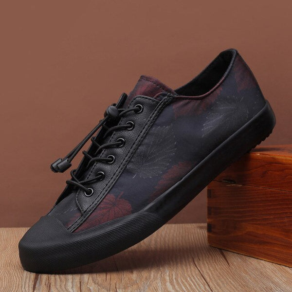 Fashion Men Lace-up Leather Casual Shoes Trend Shoe Cool Loafers Flats Designer Shoes
