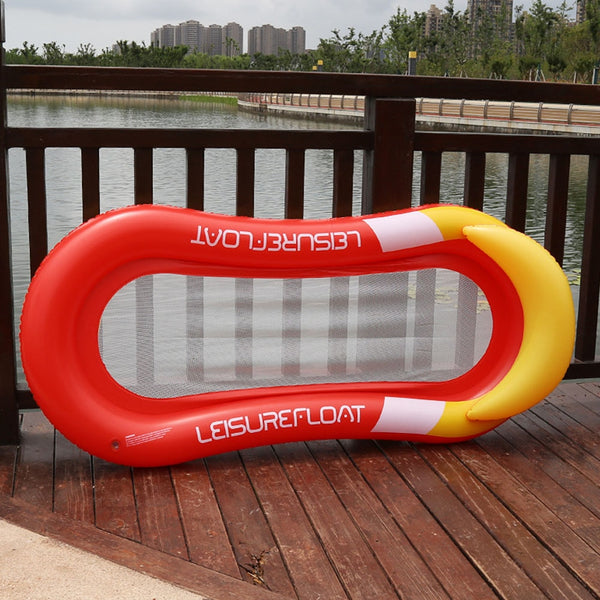 PVC Summer Floating Row Hammock Bed Middle Mesh Portable Folding Swimming Inflatable Beach Water Lounge Pool