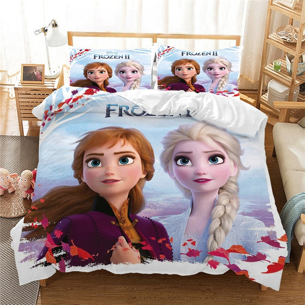 Frozen Anna Elsa Bedding Set Queen King Size Bed Set Children Girl Duvet Cover