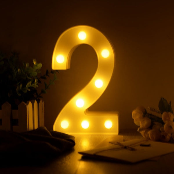 Luminous LED Letter Night Light Creative 26 English Alphabet Number Battery Lamp