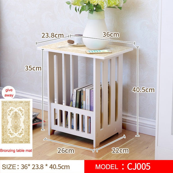Wooden coffee table Euro modern Home mini side tables Wooden