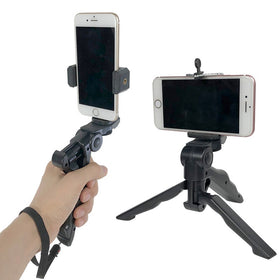 Handheld Holder for GoPro Sports Action Camera for iPhone Samsung Smartphone Tripod