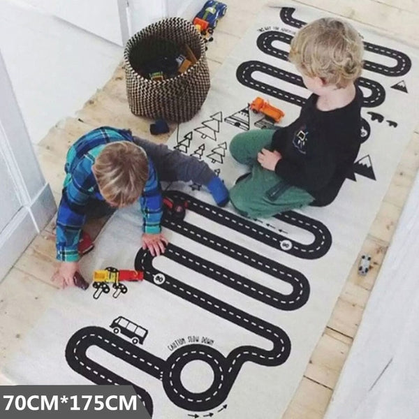 Baby Play Mat Soft Crawling Rugs Car Track pattern Puzzles Learning Toy