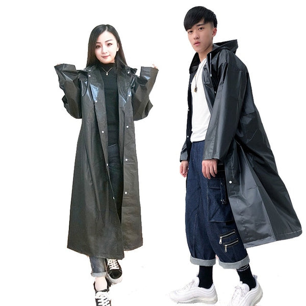 Women Raincoat Men Black Rain Clothes covers Impermeable Rainwear