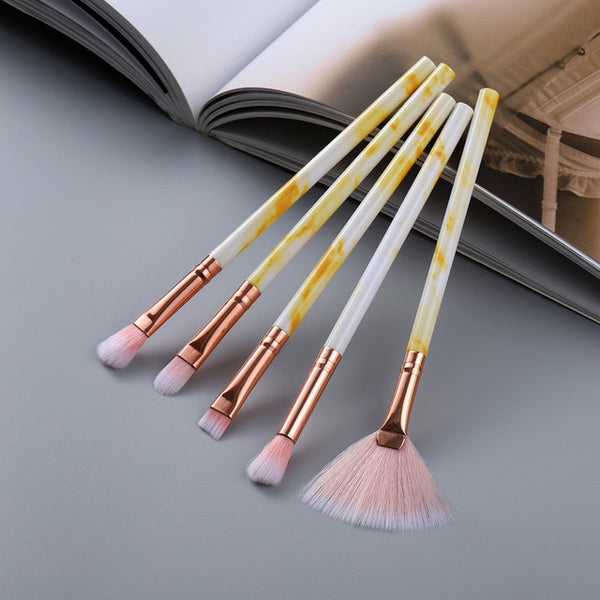 FLD5/15Pcs Makeup Brushes Tool Set Cosmetic Powder Eye Shadow Foundation Blush Blending