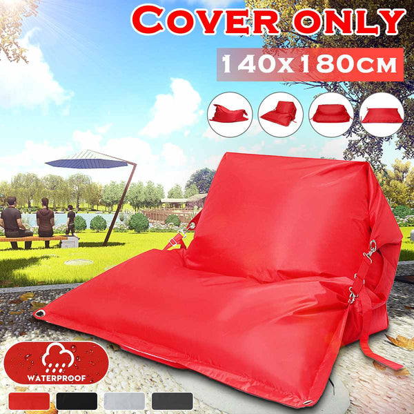 BeanBag Sofas Cover Chairs Waterproof Oxford Fabric Lounger Seat