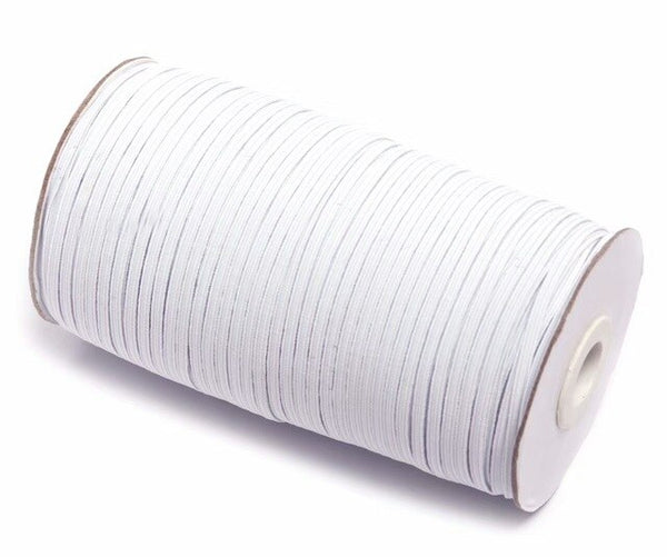 Elastic Bands White and Black 5 Meters 6/8/10/12/15/20/30/35/40mm Polyester Elastic Bands