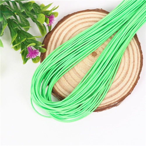 1mm Colorful High-Elastic Round Elastic Band Round Elastic Rope Rubber Band