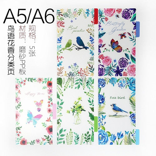 A variety of matte binder loose strap loose leaf  A6 A7 notebook journal a5 planner