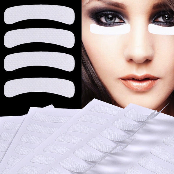 100 Pcs White Eye Eyelash Extension Fabrics Pads Stickers Patches Adhesive Tape