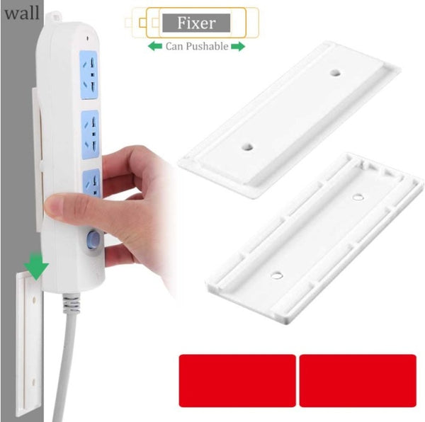 Punch Free Plug Sticker Holder Wall Fixer Power Strip Holders