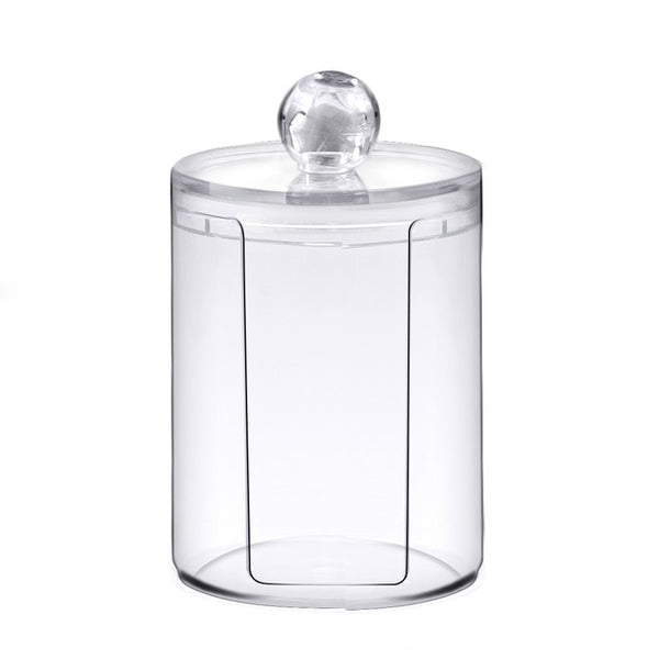 Multifunctional round receive box Jewelry Box Cotton Swabs Transparent Container