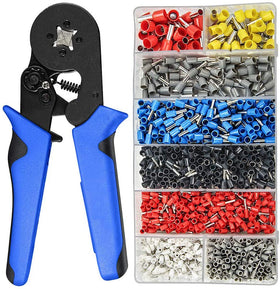 0.08-10mm Tubular Crimping Pliers Tools Set 1200pcs Terminal Crimping HSC8 precision clamp set