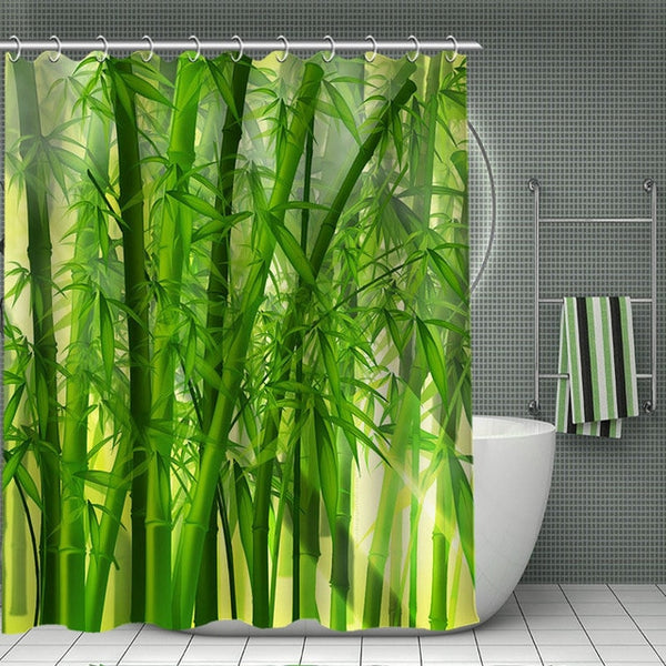 11.11 HOT SALE Print Your Pattern, Custom Bamboo Shower Curtain