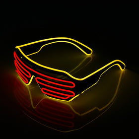 LED Luminous Glowing Neon Glasses Flashing Light