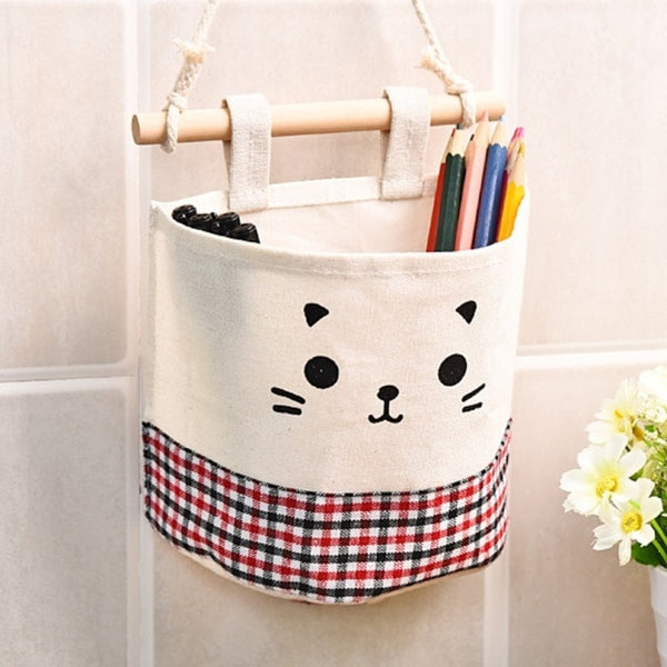 Wall Wardrobe Hanging Storage Bag 3 Pockets Door Pouch Organizer