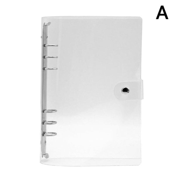 1Pc Transparent Color Plastic Clip File FolderA4/A5/A6/A7 Notebook Loose Leaf Ring Binder