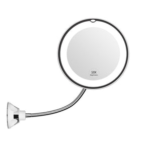 10X Magnifying Mirror makeup Light LED Magnifier Vanity Lamp 360 Degree Rotation