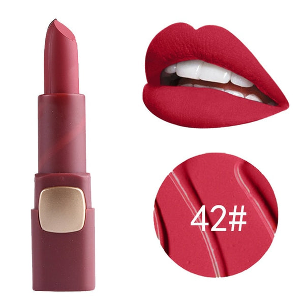 Lipstick Makeup Professional Matte Lipsticks Waterproof Long Lasting Sexy Red Lips Gloss