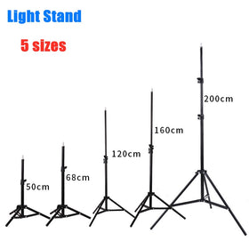 50/160/200CM Photography Studio Adjustable Light Stand Photo Tripod With 1/4 Screw Head
