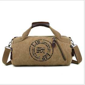Durable Multifunction Handbag Men Canvas Sport Bag Training Gym Bag