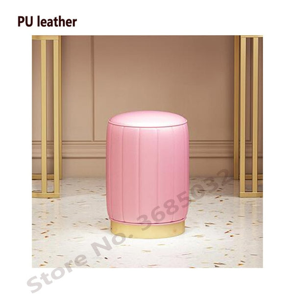 Dressing Stool Ottoman Stylish Quality PU Leather or Flannel