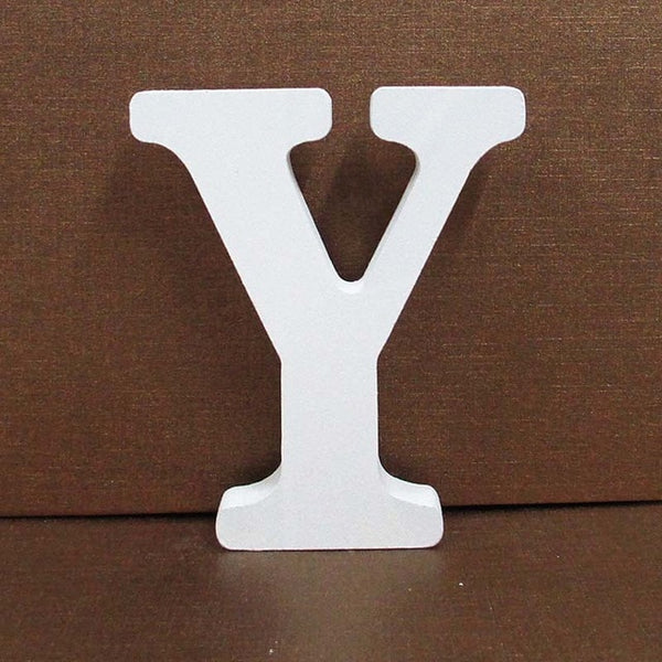1pc 8cm A-Z 0-9 White Wooden Letters English Alphabet Number Free Standing
