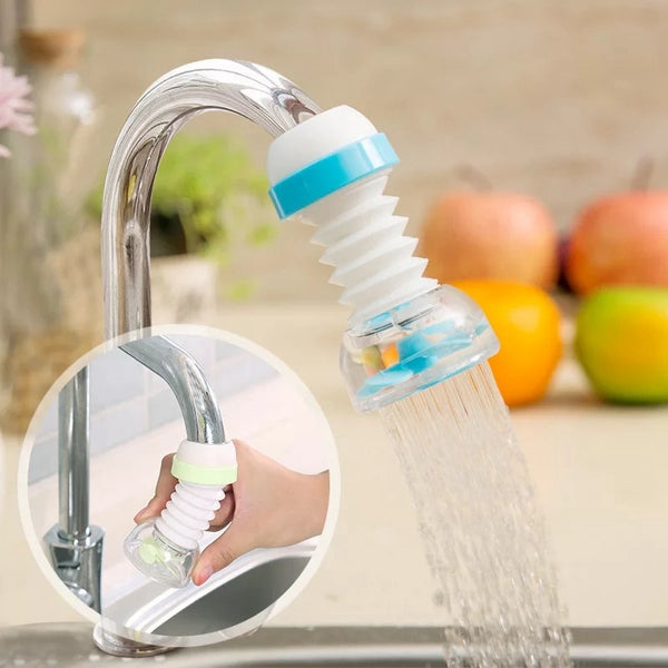 360 Degree Adjustable Water Tap Extension Filter Shower Water Tap Bathroom Faucet