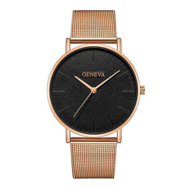 Fashion Rose Gold Watch for Woman Silver