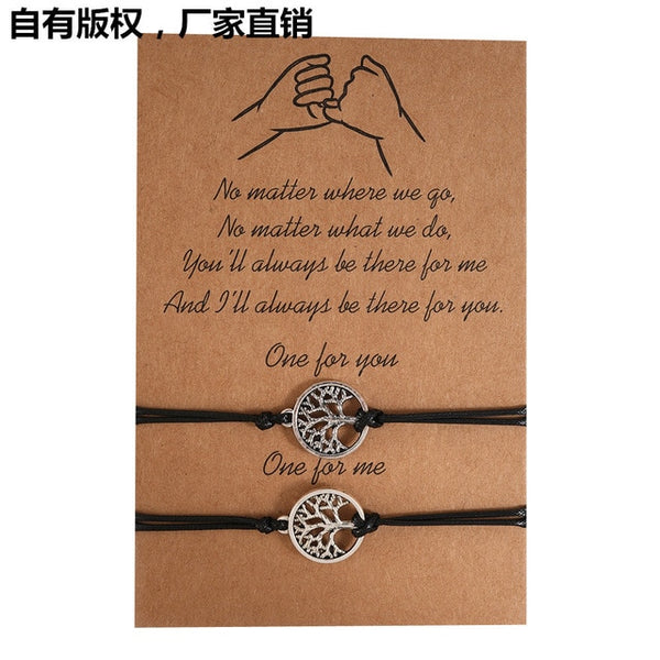 New DIY Charm Bracelet For Friendship Couples 2pcs/set Volcanic Stone bracelet Bead Bangles Jewelry