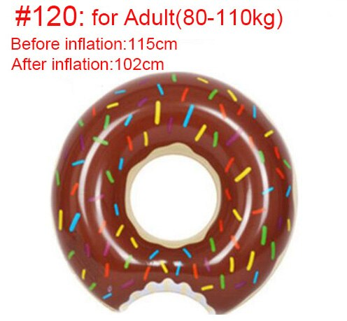 Rooxin Inflatable Donut Swimming Ring for Pool Float Mattress Swimming Pool Thickened PVC Summer Floating Ring